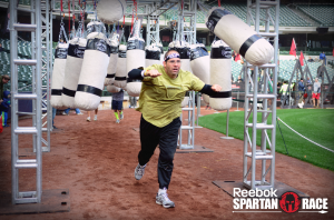 Me doing the Gauntlet at the 2014 Miller Park Spartan Sprint