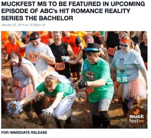 Muckfest Facebook post announcing the Bachelor