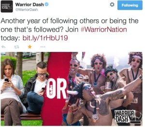 "Warrior Dash ""follower"" post"