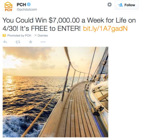 You Could Win $7,000.00 a Week for Life on 4/30 It's FREE to ENTER!