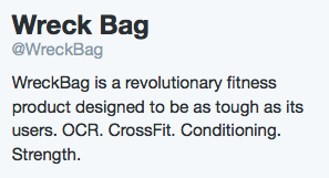 WreckBag is a revolutionary fitness product designed to be as tough as its users.