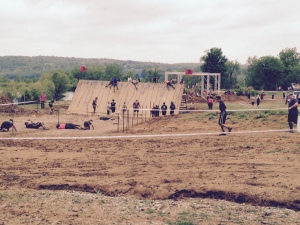 Slip wall and other obstacles at Indianapolis Spartan Sprint 2015