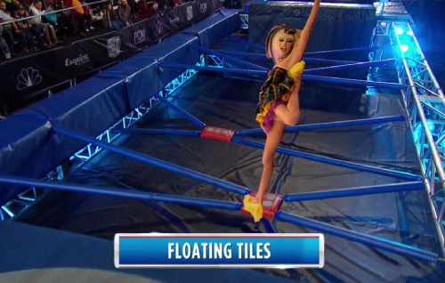 Laganja Estranja death drop on floating tiles