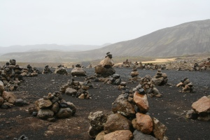 Rock piles in Iceland