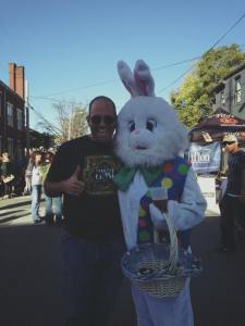 Me and a bunny with a beer.