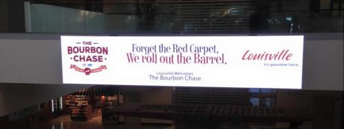 Bourbon Chase Welcolme in Louisville Airport