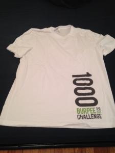 1000 burpee challenge shirt.