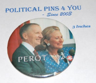 H. Ross Perot presidential campaign button
